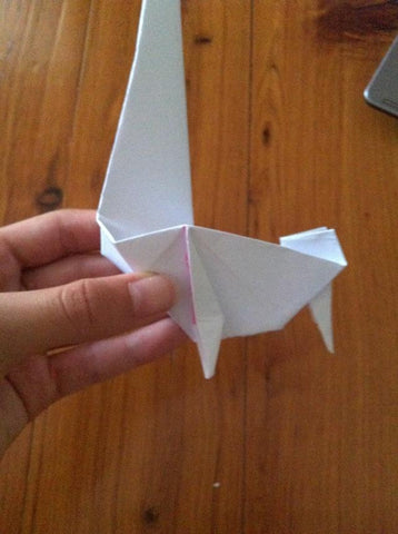 how to make an Origami Unicorn 22