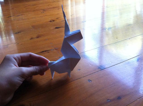 How to make an Origami Unicorn 29