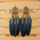 25% Off -BLACK BIRD Women Earrings With Feathers -FREE SHIPPING WORLD-WIDE!
