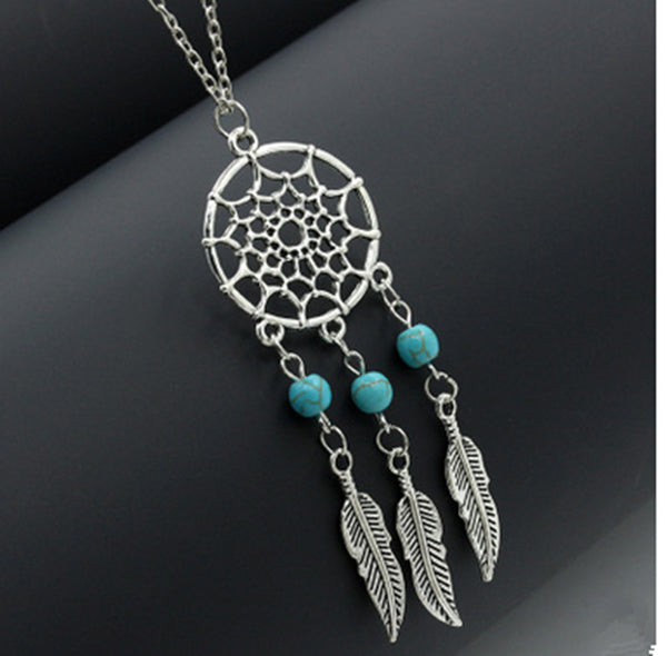 31% Off! Dream Catcher Necklace Tassels Silver Feathers -FREE SHIPPING WORLD-WIDE!