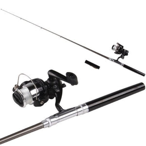 Super sell Mini black pen fishing rod kits
