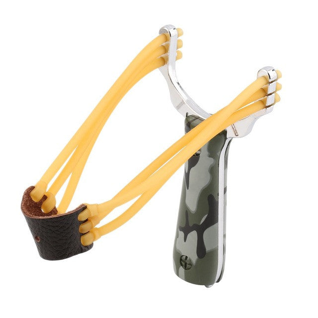 Outdoor Powerful Steel Catapult Slingshot Marble Hunting