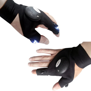 Outdoor Fishing Magic Strap Finger less Glove