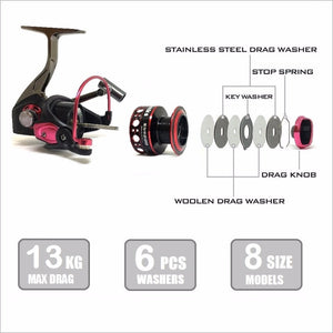 2017 Spinning Aluminum Body Fishing Reel