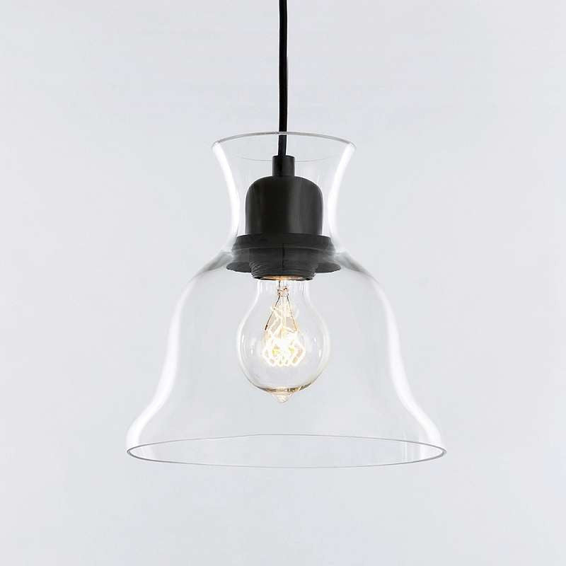 Salute Clear Glass Bell Pendant