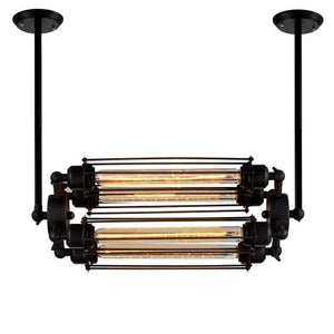 Edison Caged Horizontal Pendant Light with 4 Bulbs Included