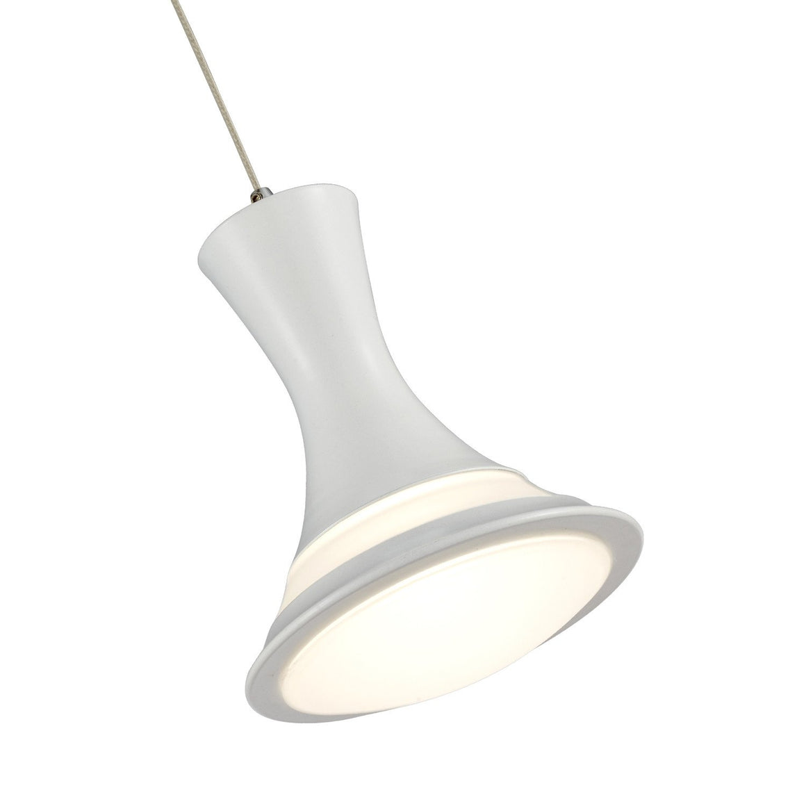 Ohr Lighting® LED Pendant Light -5 Pendants, White/Chrome Canopy