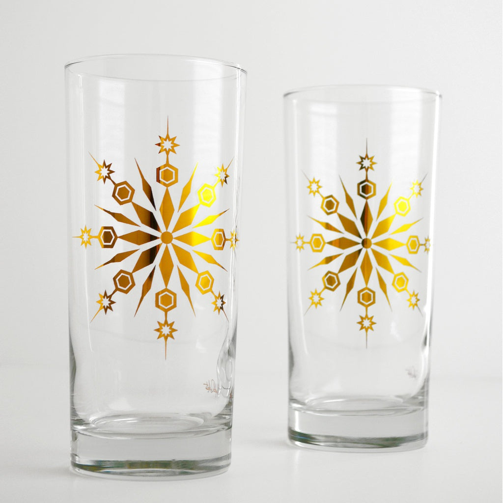 Gold Snowflake Glasses - 5and15