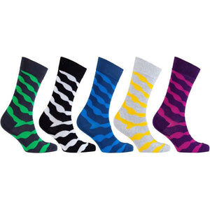 Men's 5-Pair Fun Patterned Socks - 5and15