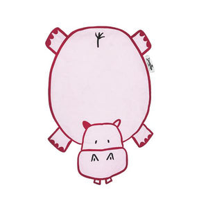 """Dribble Drooler"" Burp Cloth Harry the Hippo *Free Shipping* - 5and15"