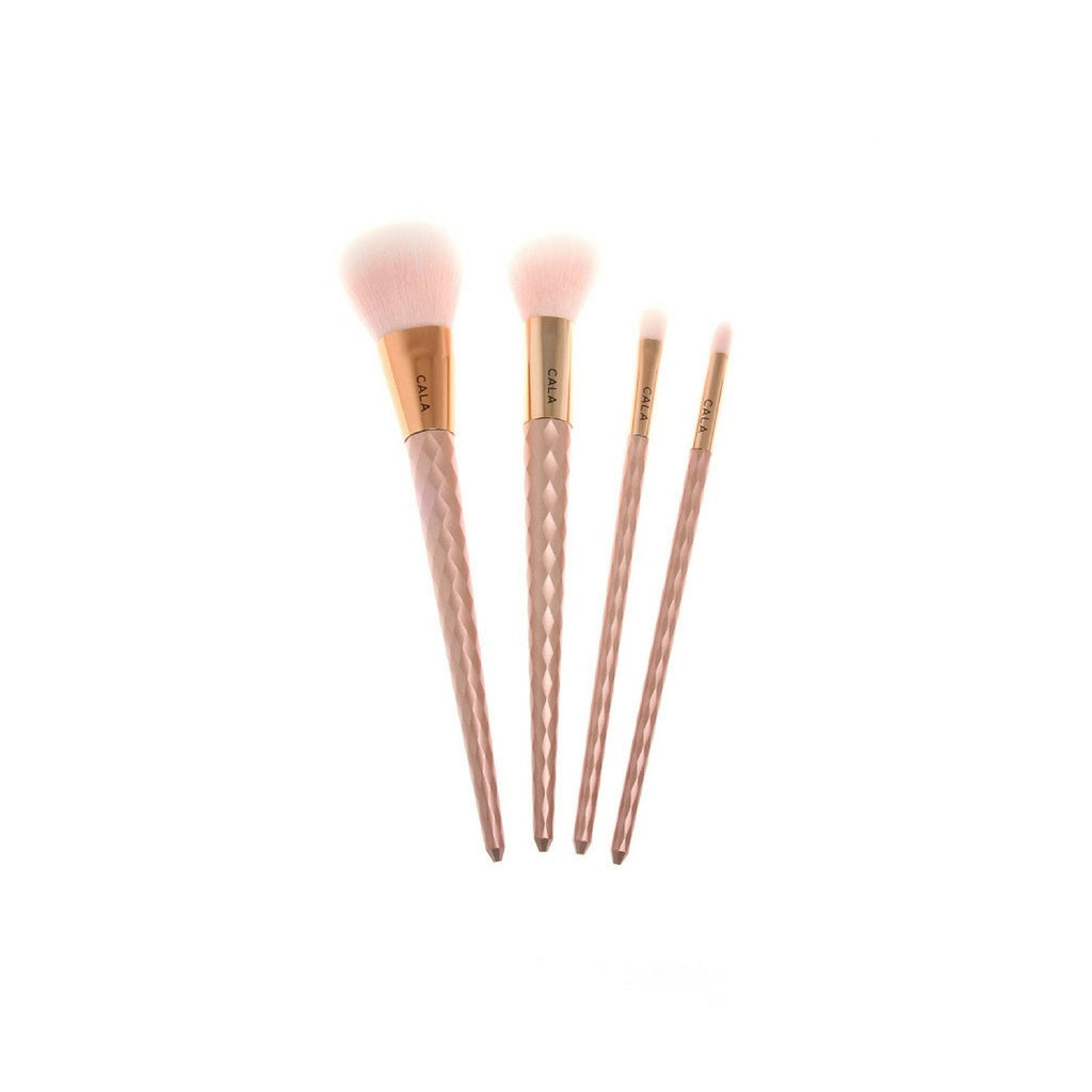 Rose Bliss Collection 4pc Premium Makeup Brush Set - 5and15