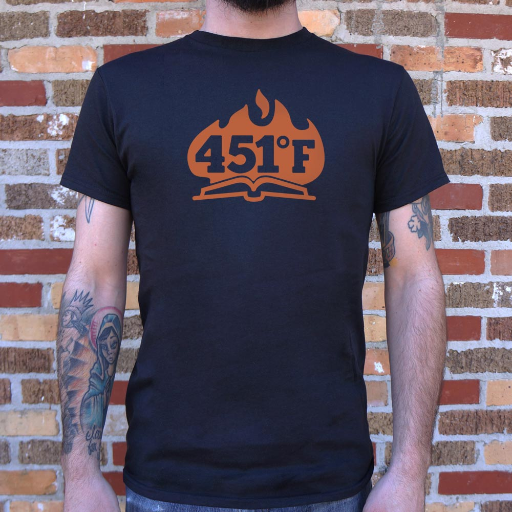 Mens 451 Fahrenheit T-Shirt *Free Shipping* - 5and15