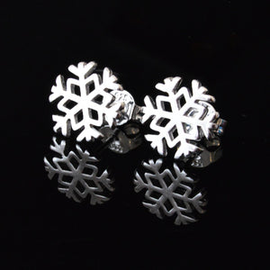 Snowflake Sterling Silver Earrings - 5and15