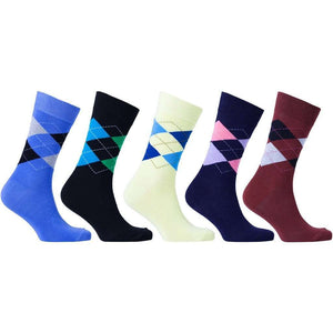 Men's 5-Pair Cool Argyle Socks - 5and15
