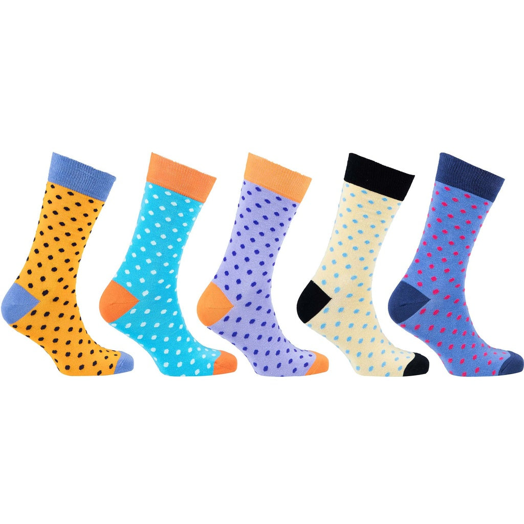 Men's 5-Pair Fun Polka Dot Socks - 5and15