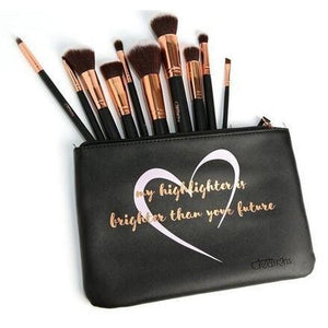 10pc Like A Diamond Vegan Brush Set - 5and15