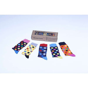 Men's 5-Pair Funky Polka Dot Socks *Free Shipping* - 5and15