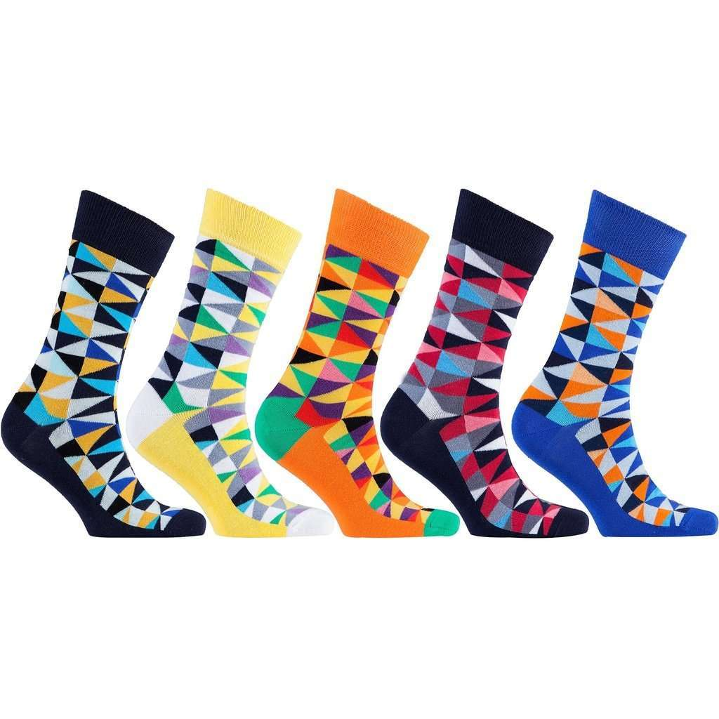 Men's 5-Pair Funky Patterned Socks - 5and15