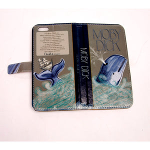 Moby Dick (Dark) Book phone flip case wallet for iPhone and Samsung - 5and15
