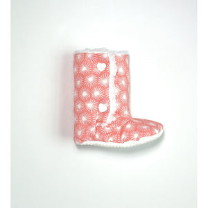 Bursts of Pink Baby Boots (Organic Cotton) - 5and15