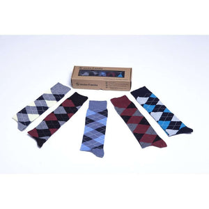 Womens 5-Pair Cool Argyle Design Knee High Socks - 5and15