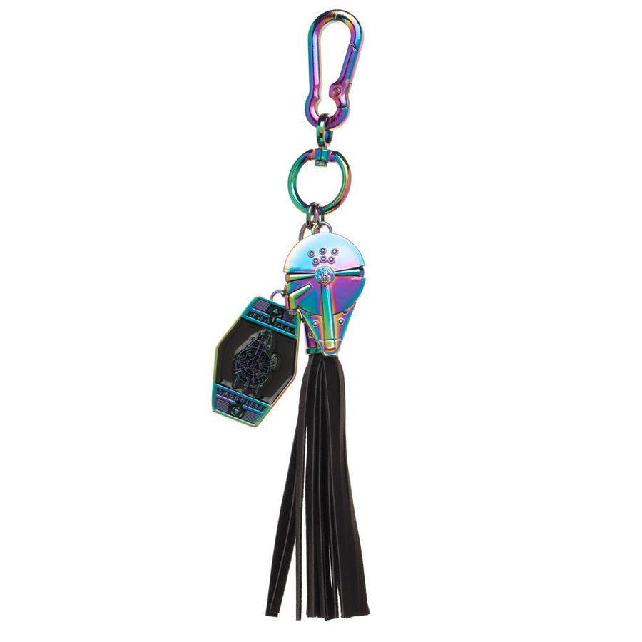 Millenium Falcon with Tassel, Key Chain Hook with Star Wars Title Charm - 5and15