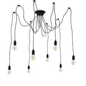 Edison Pendant Light vintage style  spider  Chandelier 8 hanging lights (ed272p1-8)