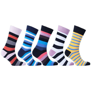 Men's 5-Pair Cool Striped Socks - 5and15
