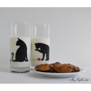 Cat and Yarn Glassware - 5and15