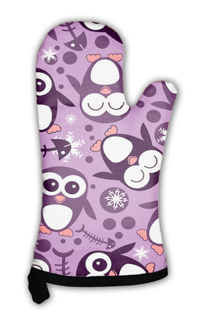 Oven Mitt, Pattern With Cute Penguins *Free Shipping* - 5and15