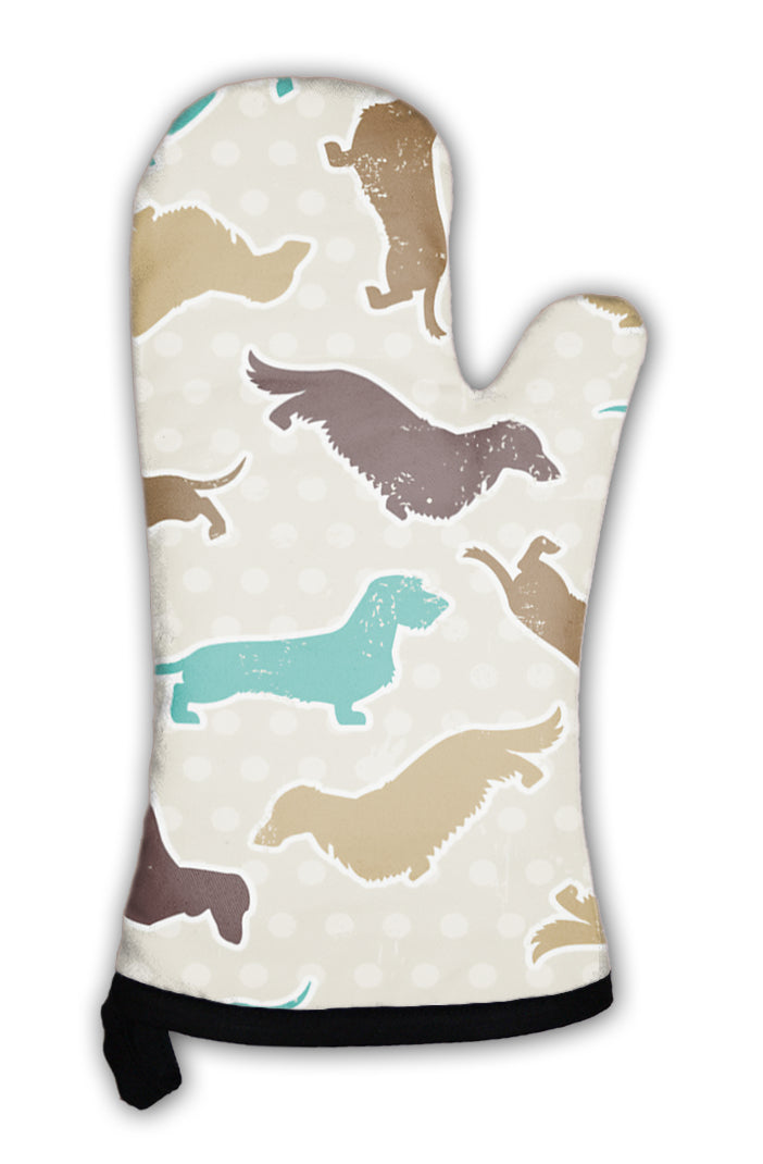 Oven Mitt, Dachshunds Varieties Pattern *Free Shipping* - 5and15