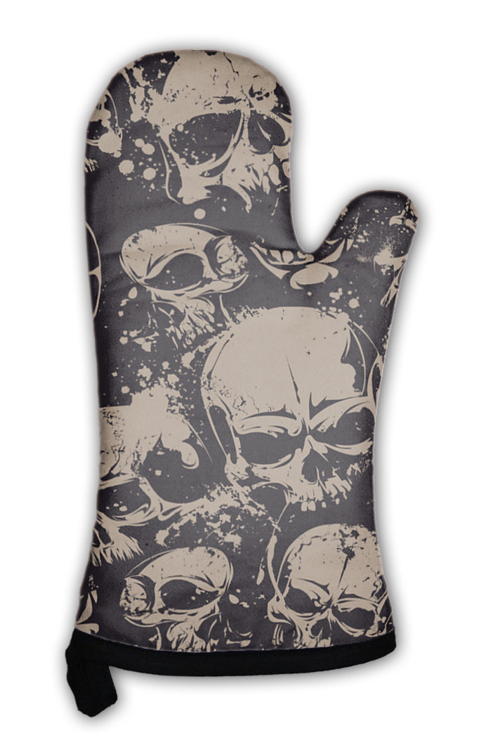 Oven Mitt, Grunge Skulls *Free Shipping* - 5and15