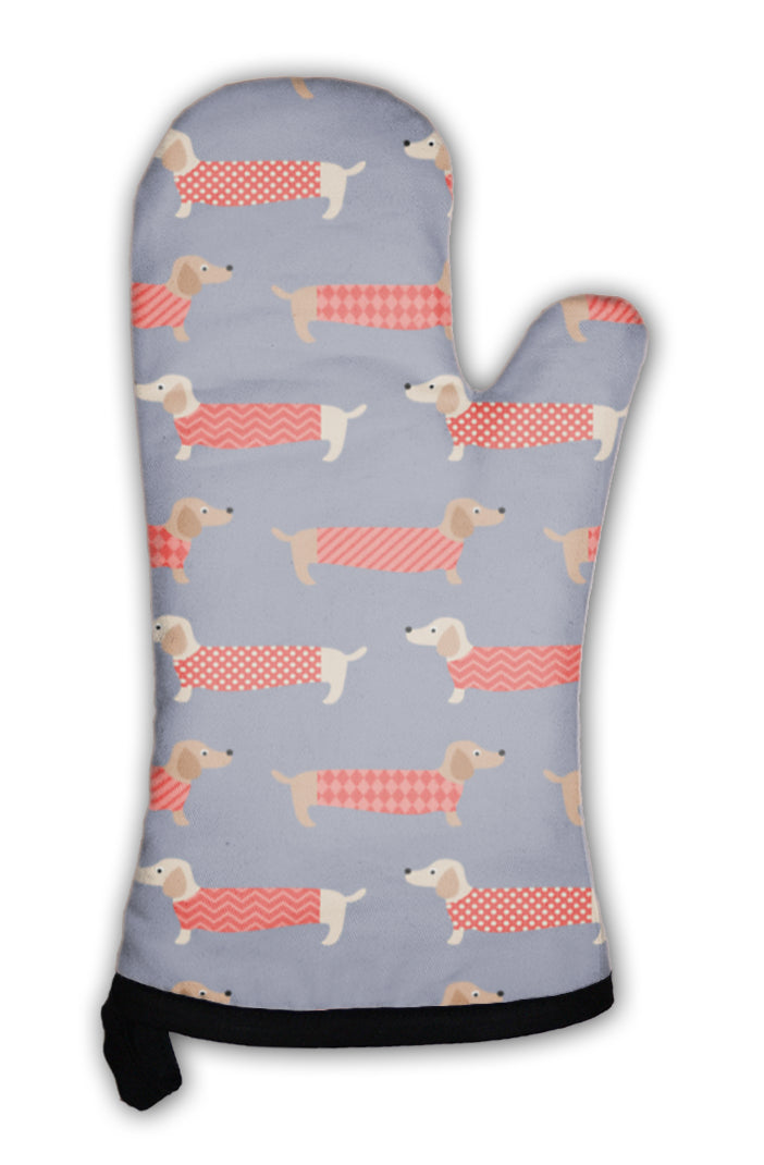 Oven Mitt, Dachshund Dogs Pattern *Free Shipping* - 5and15