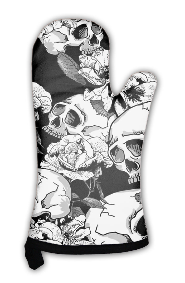 Oven Mitt, Skull And Flowers *Free Shipping* - 5and15