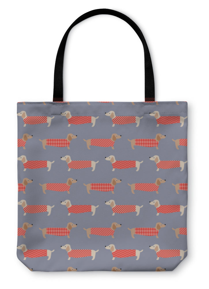 Tote Bag, Dachshund Dogs Pattern *Free Shipping* - 5and15