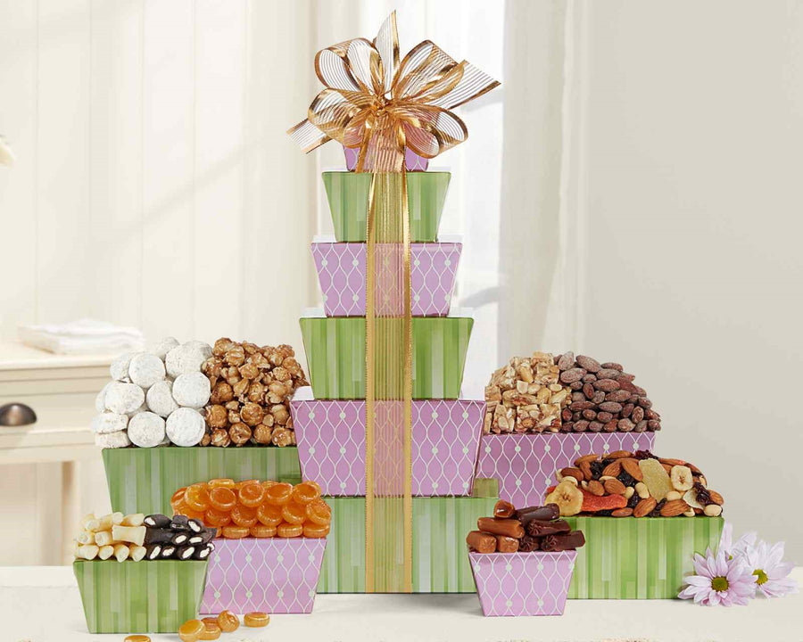 Tower of Sweets by Wine Country Gift Baskets *Free Shipping* - 5and15