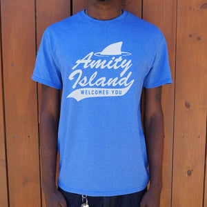 Mens Amity Island Welcomes You T-Shirt *Free Shipping* - 5and15