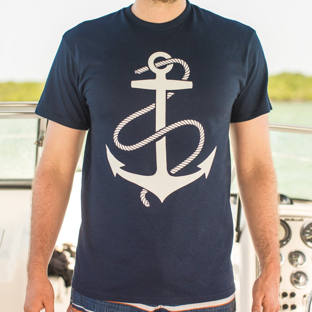 Mens Anchors Aweigh T-Shirt *Free Shipping* - 5and15