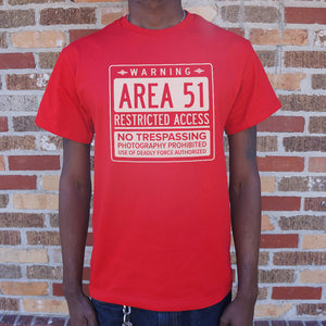 Mens Area 51 T-Shirt *Free Shipping* - 5and15