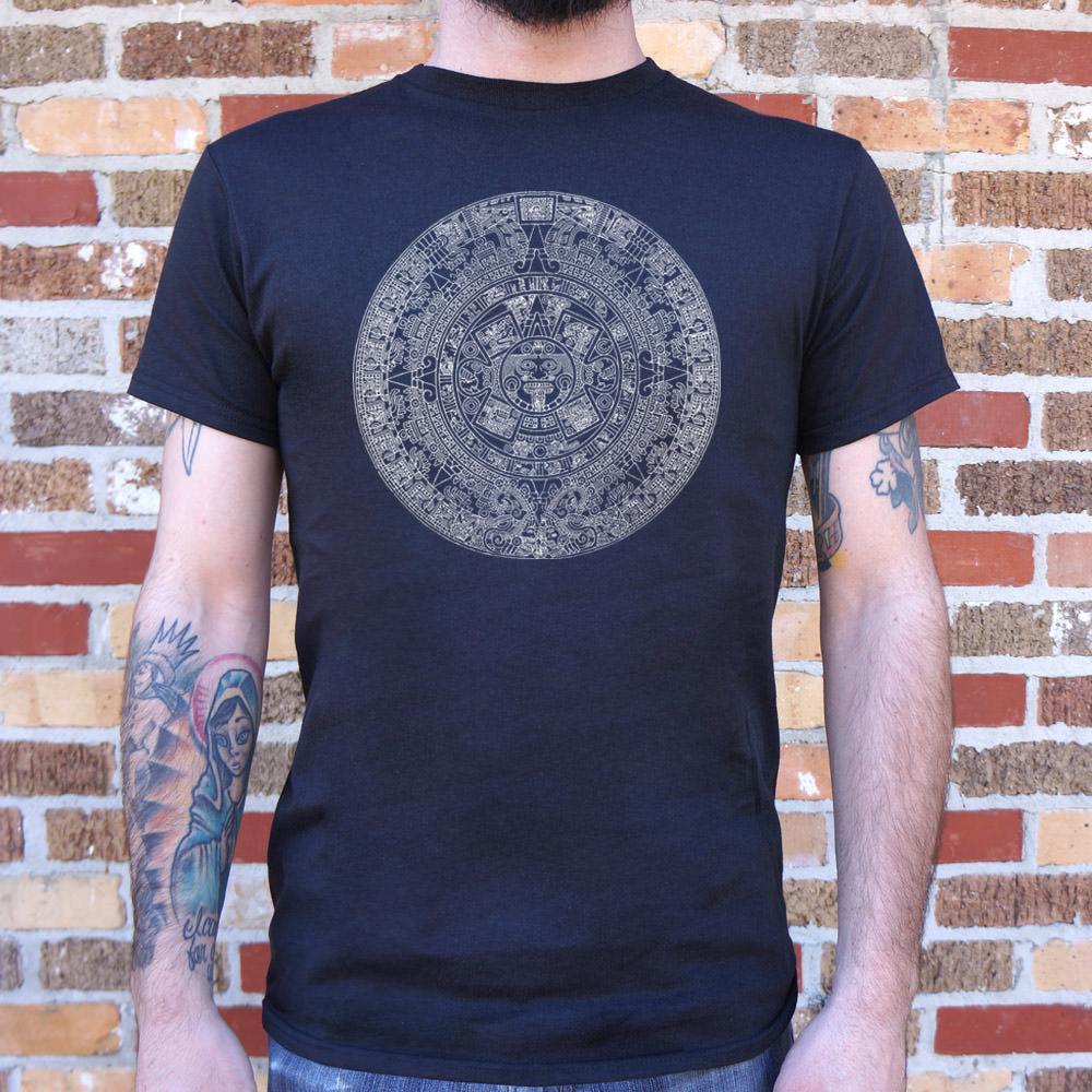 Mens Aztec Calendar T-Shirt *Free Shipping* - 5and15