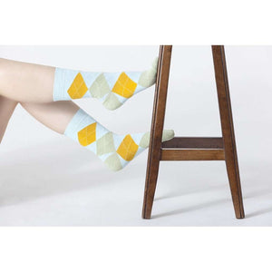 Womens 5-Pair Colorful Argyle Crew Socks - 5and15