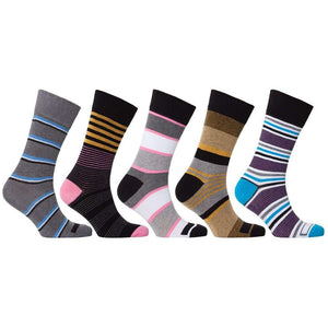 Men's 5-Pair Fun Striped Socks - 5and15