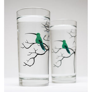 Hummingbird Glassware - Set of 2 Everyday Drinking Glasses - 5and15