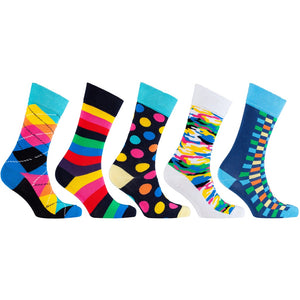 Men's 5-Pair Funky Mix Socks - 5and15