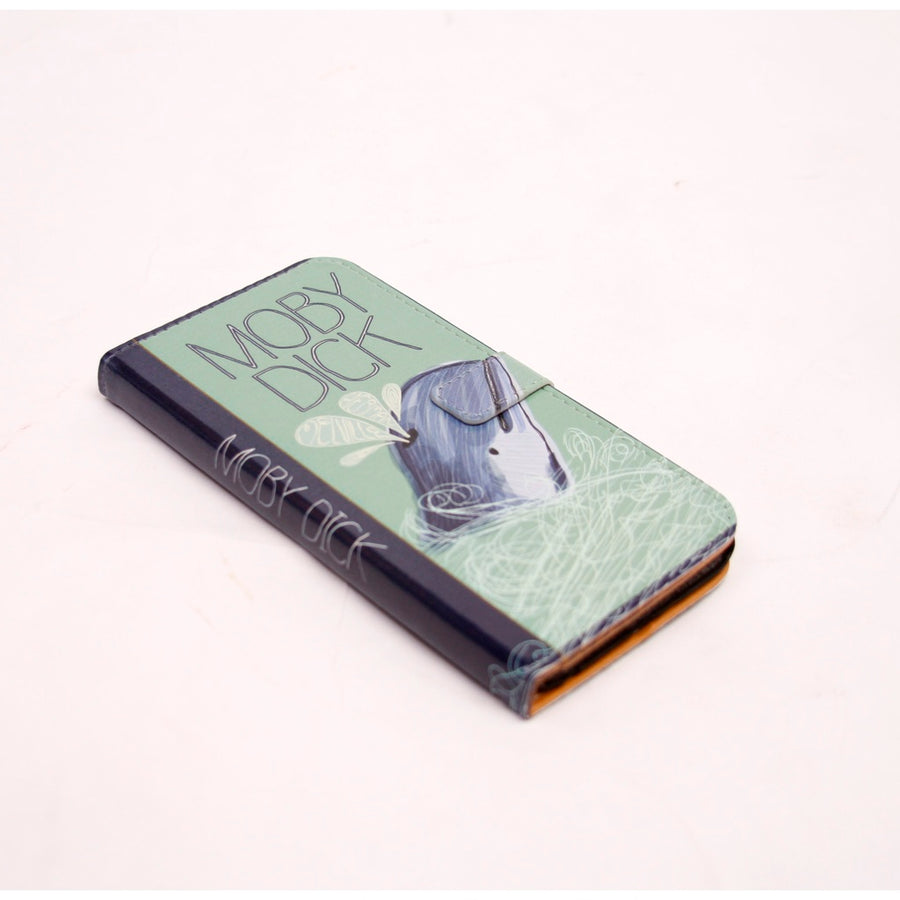 Moby Dick Book phone flip case wallet for iPhone and Samsung - 5and15