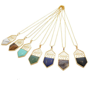 Geo Gemstone Necklace *Free Shipping* - 5and15