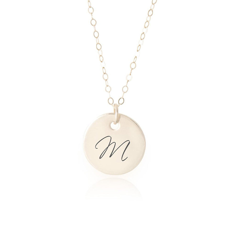 14k Gold Initial Necklace - 5and15