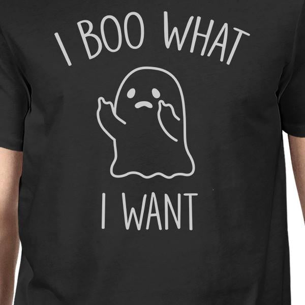 I Boo What I Want Ghost Mens Black Shirt - 5and15
