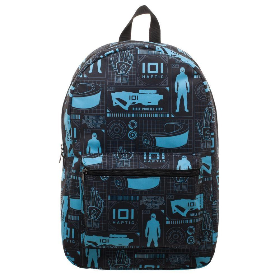 Innovative Online Industries Pattern Backpack, Sublimated Backpack with Gaming Grid Design, MMORPG Virtual Reality - 5and15