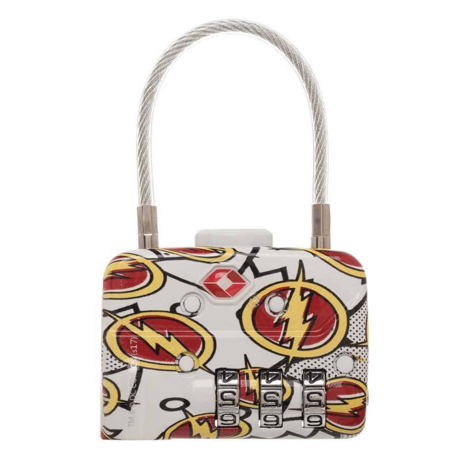 DC Comics The Flash Logo TSA Approved Travel Combination Cable Luggage Lock for Suitcase Baggage - 5and15